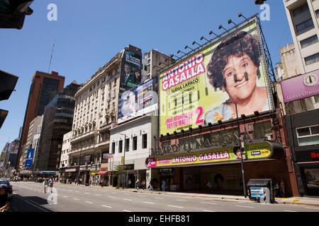 Argentina, Buenos Aires, Avenida Corrientes, Teatro el Nacional, National Theatre - Stock Photo