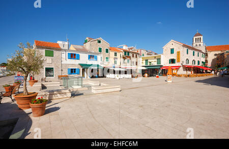 Vodice old town. Touristic destination in Croatia - Stock Photo