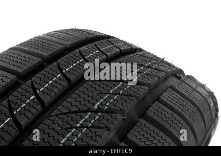 Winter tire close up. - Stock Photo