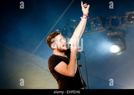 Fenech-Soler live at Bestival on the Isle Of Wight 2011. - Stock Photo
