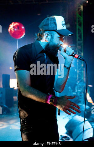 Dan Le Sac Vs Scroobius Pip live at Bestival on the Isle Of Wight 2011. - Stock Photo
