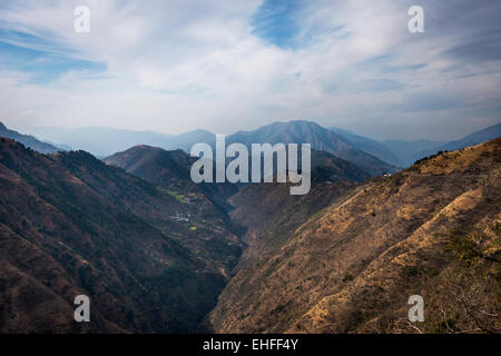 Himalayan foothills near Shimla, Himachal Pradesh, India - Stock Photo