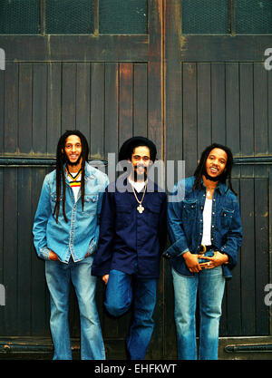 Portrait of Julian Damian and Steven Marley. - Stock Photo