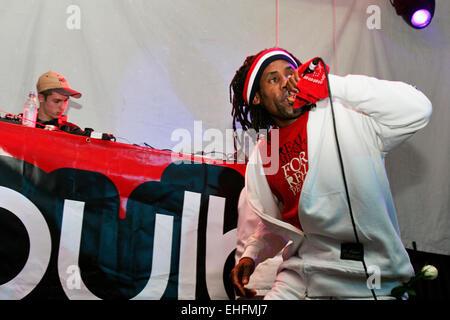 Stylo Prohibido live at the Latin Hip Hop and Reggaeton Festival at The Carling Academy Islington London. - Stock Photo