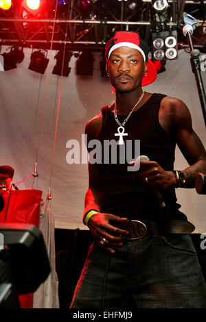 Leximan live at the Latin Hip Hop and Reggaeton Festival at The Carling Academy Islington London. - Stock Photo