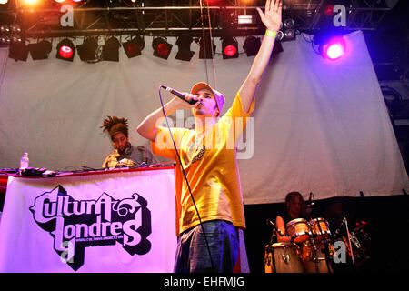 Cultura Londres live at the Latin Hip Hop and Reggaeton Festival at The Carling Academy Islington London. - Stock Photo