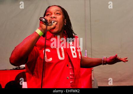 Kid Afrika live at the Latin Hip Hop and Reggaeton Festival at The Carling Academy Islington London. - Stock Photo