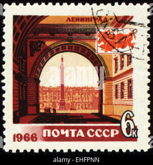 USSR - CIRCA 1966: stamp printed in USSR - Stock Photo