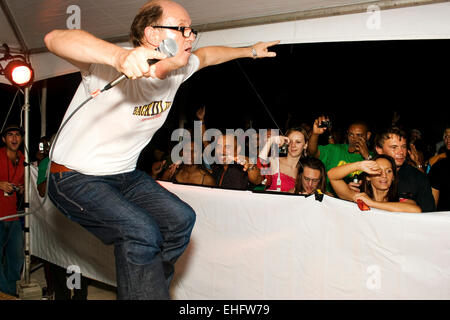 David Rodigan's Back II Life party at The Beach Antigua. - Stock Photo