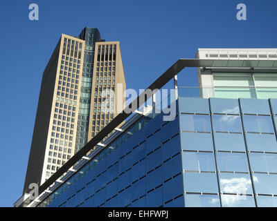 Highrise building in Frankfurt - Stock Photo
