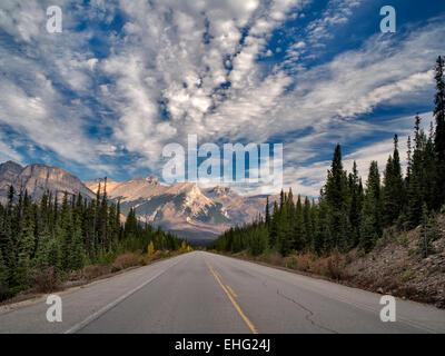 Road in Banff National Park, Alberta, Canada - Stock Photo