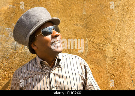 Portrait of Norman Jay in Notting Hill West London. - Stock Photo