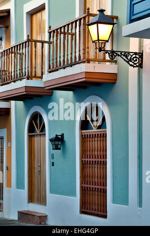 Spanish Colonial house, Old San Juan, Puerto Rico - Stock Photo