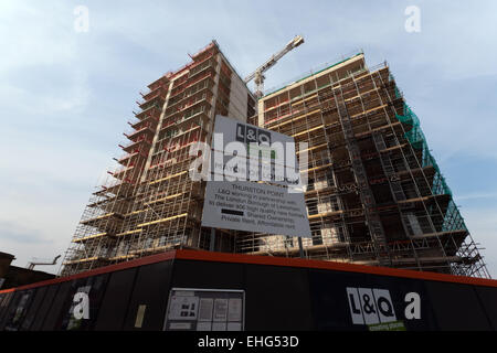 Thurston Point property development construction site of 406 new homes  by L&Q contractors. in  Lewisham - Stock Photo