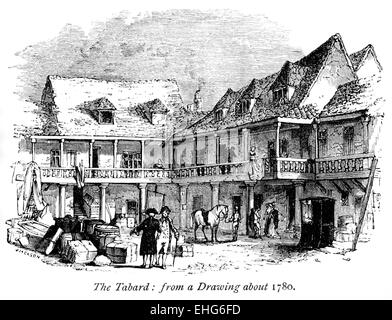 the canterbury tales the tabard inn The canterbury tales  of the general prologue on april 17th toward the end of the fourteenth century nine and twenty pilgrims gather in the tabard inn in.