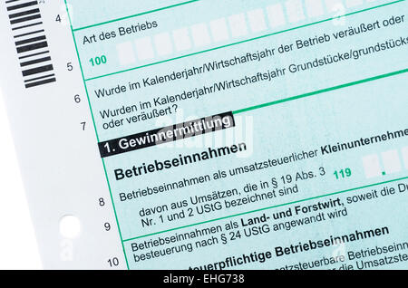 Anlage S / German income tax - Stock Photo