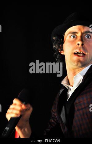 Maximo Park live at Brixton Academy London 27/05/09. - Stock Photo