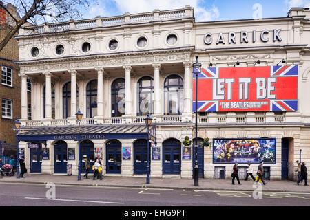 The Garrick Theatre, Charing Cross Road, London - Stock Photo