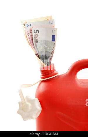 Roter Beninkanister / Red gas can - Stock Photo