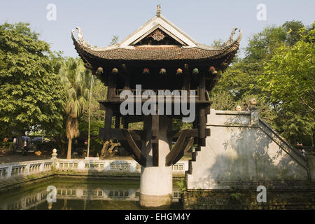 One Pillar Pagoda, Hanoi, Vietnam, Asia - Stock Photo
