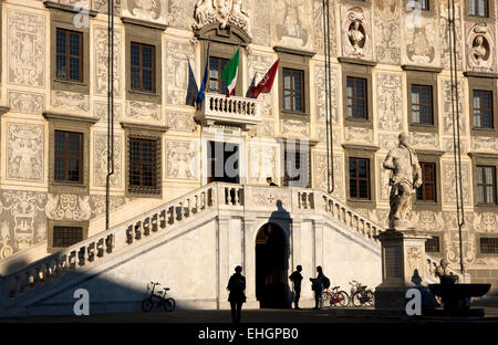 Pisa University. Palazzo della Carovana ( Palazzo dei Cavalieri), Knights Square,Pisa, Italy. Houses Scuola Normale - Stock Photo