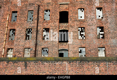 South Warehouse (1852-55) ,Stanley Dock, Regent Road, Liverpool, Merseyside, England, UK - Stock Photo