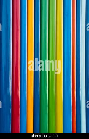 Columns of full spectrum primary colors - Stock Photo