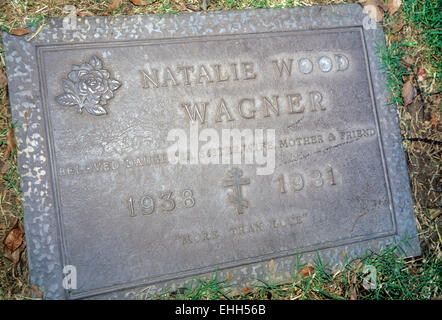 LOS ANGELES, CA – DECEMBER 01: Grave of American actress Natalie Wood in Los Angeles, California on December 1, - Stock Photo