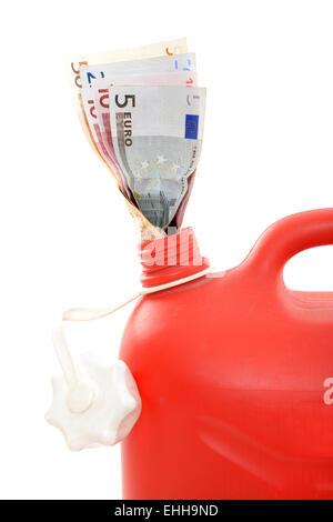 Teures Benzin / Expensive gasoline - Stock Photo