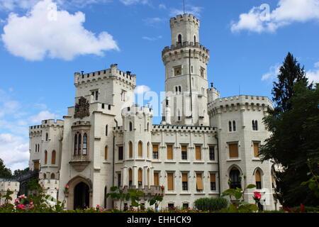 Hluboka castle - Stock Photo