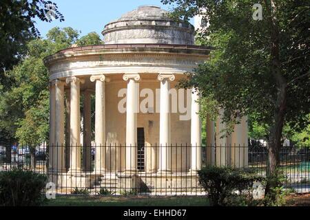 Ancient Greek temple in Corfu - Stock Photo