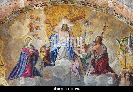 Mosaic in St. Mark Basilica in Venice - Stock Photo