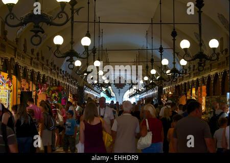 Cloth Hall  in Krakow inside - Stock Photo