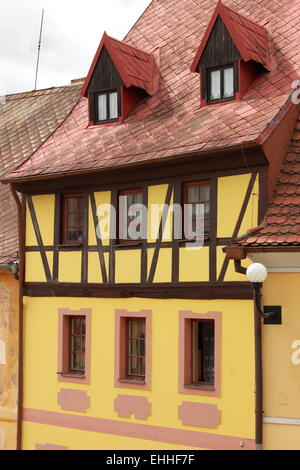 Traditional timbered house - Stock Photo