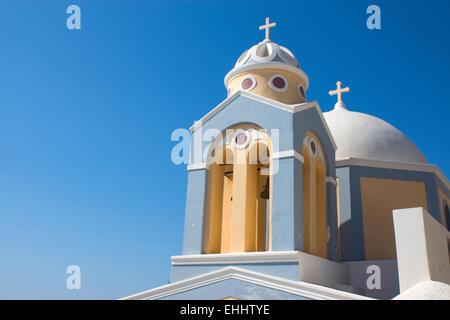 Church in Fira, Santorini - Stock Photo