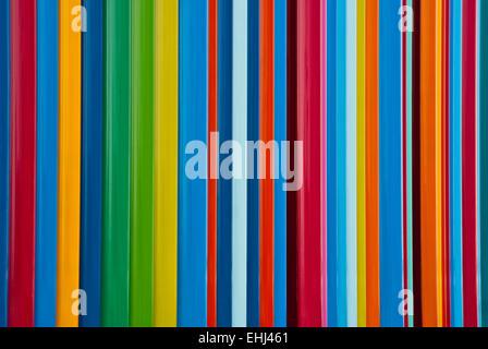 Lines of full spectrum primary colors - Stock Photo