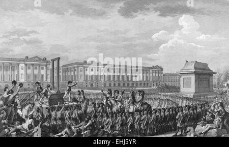 The execution of Louis XVI in the Place de la Révolution, France - Stock Photo