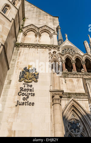 The Royal Courts of Justice is a court building in London which houses both the High Court and Court of Appeal - Stock Photo