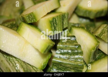 zucchini sliced - Stock Photo