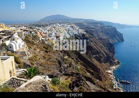 View over Fira, Santorini - Stock Photo