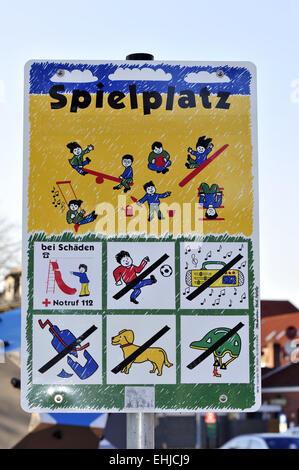 Playground sign - Stock Photo