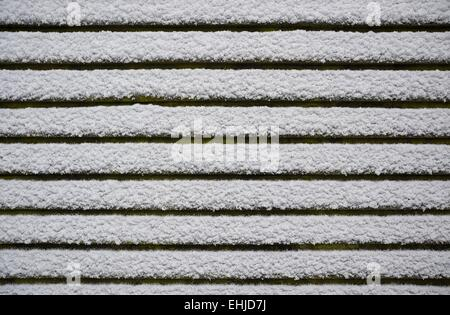 Snow on the roof - Stock Photo