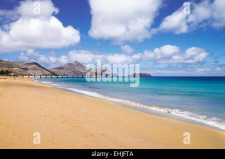 Porto Santo golden beach - Stock Photo