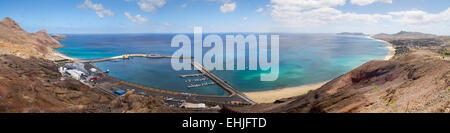 Porto Santo Harbour overview - Stock Photo
