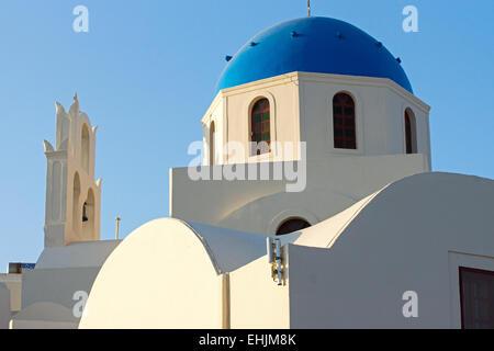 Beautiful church in Oia, Santorini - Stock Photo
