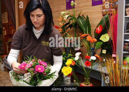 Florist designed bouquet - Stock Photo