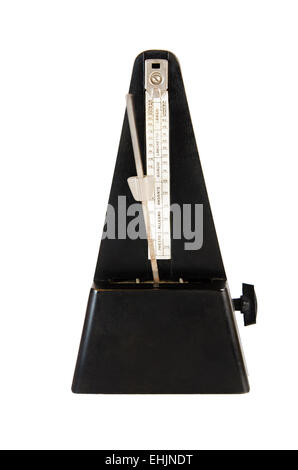 Old metronome it is isolated on white - Stock Photo