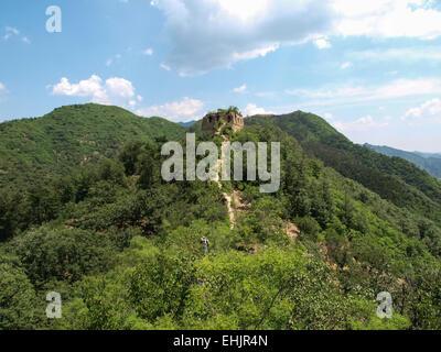 Great wall of china, Huang Hua Cheng - Stock Photo