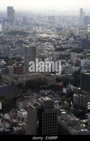 Tokyo cityscape with Minato in foreground, Tokyo Japan - Stock Photo