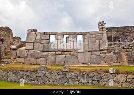 Built as a summer palace for the Inca royal Pachacuti, Machu Picchu is today a major tourist attraction. - Stock Photo